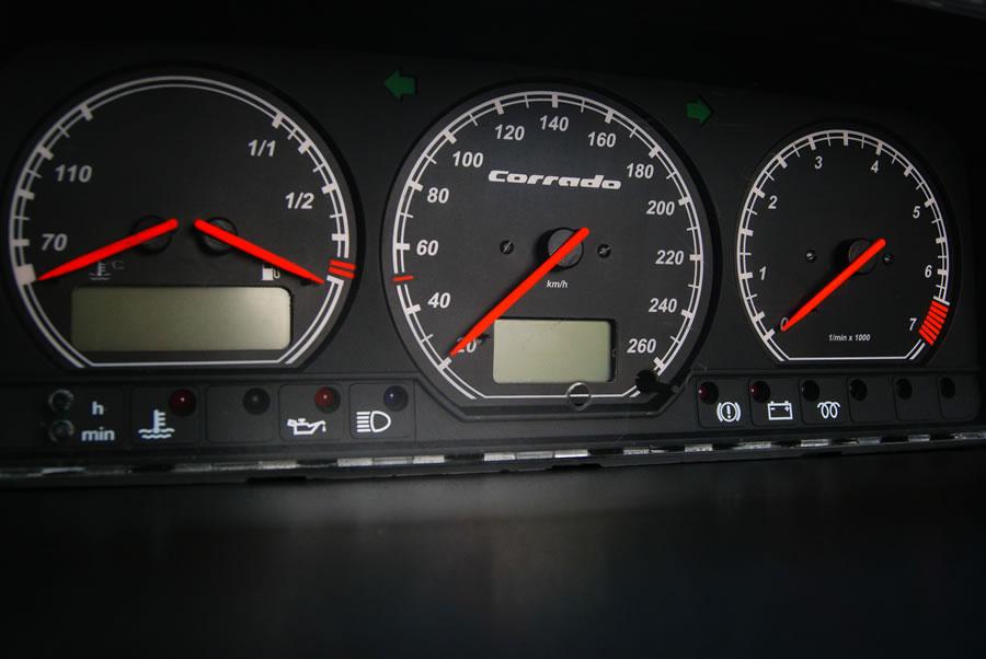 240 Kmh To Mph >> VOLKSWAGEN CORRADO glow gauges plasma dials tacho glow dash shift MPH KMH VW | eBay