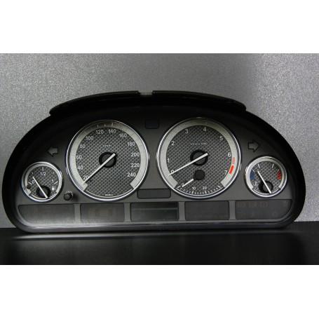 BMW E39 Wzór 2 ŚWIECĄCE TARCZE LICZNIKA, ZEGARY INDIGLO