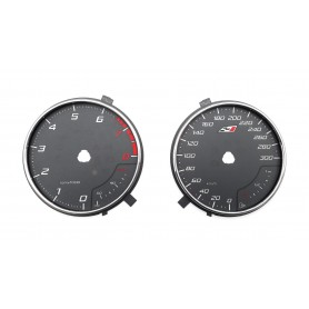 Seat Leon 3 Cupra - Replacement tacho dials, counter faces, gauges - converted from MPH to KM/H