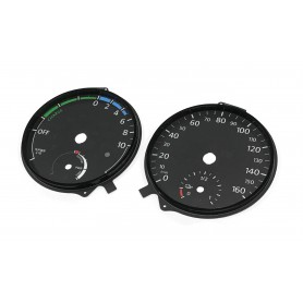 Volkswagem E-Golf - Replacement instrument cluster dials from MPH to km/h