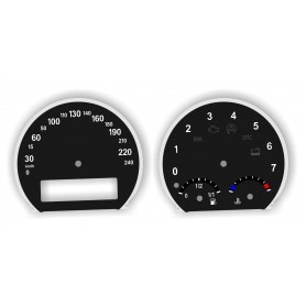 BMW X3 E83 - zamiennik tarcz licznika z MPH na km/h