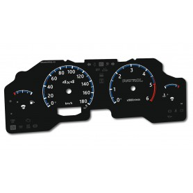 Nissan Patrol Y61 GU4 instrument cluster INDIGLO tacho dials design 2