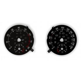 Skoda Roomster 2012-2015 - zamiennik tarcz licznika z MPH na KM/H