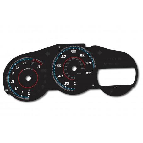 Toyota Celica VII gen design 4 glow gauges