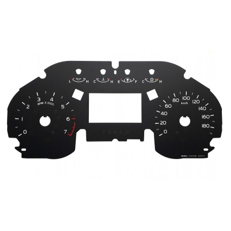 Ford F150 - replacement tacho dials from MPH to km/h Model 3