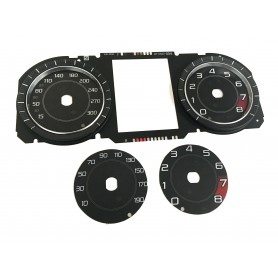 Jaguar F-Type2013-2015  - Replacement instrument cluster tacho dial MPH to km/h