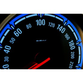 Opel Astra H instrument cluster replacement dials, face counter gauges from MPH to km/h