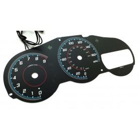 Toyota Celica VII gen design 4 plasma tacho glow gauges tachoscheiben dials