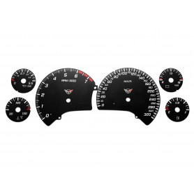 Chevrolet Corvette C5 - Replacement instrument cluster dials from MPH to km/h