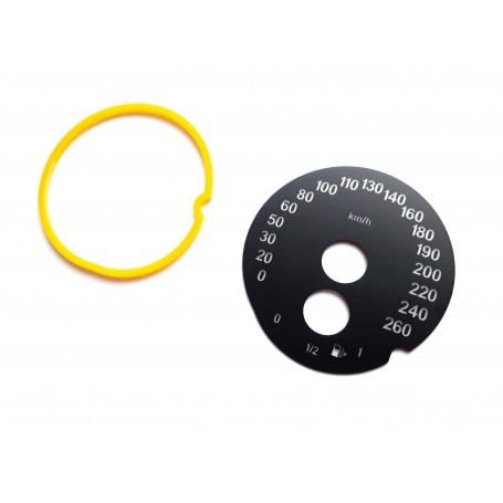 BMW X2 F39, X1 F48 - Replacement tacho dial - converted from MPH to Km/h
