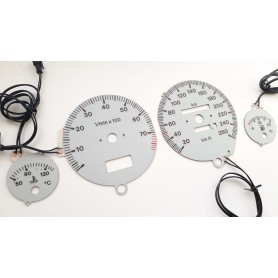 Audi 80 & 90 (B3, B4) glow gauges S2 Design