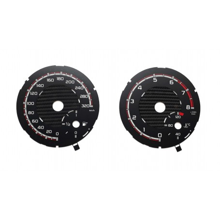 Mercedes-Benz GLE 450 for AMG - Replacement instrument cluster tacho dials - converted from MPH to Km/h