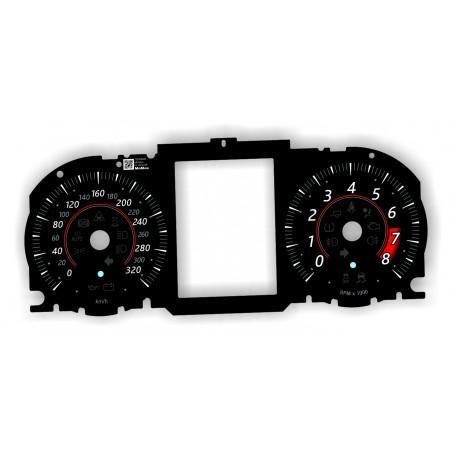 Jaguar F-Type od 2016 - tarcze licznika zamiennik z MPH na km/h