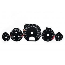 Mercedes R129 - tarcze licznika zamiennik, zegary z MPH na km