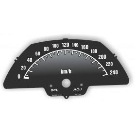 Suzuki Intruder - replecament tacho dials from MPH to km/h
