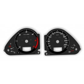Audi A6 C6, Q7  - replacement tacho dials, face counter gauges in RS style