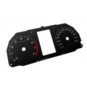 Mitsubishi Eclipse Cross - Replacement tacho dial - converted from MPH to Km/h