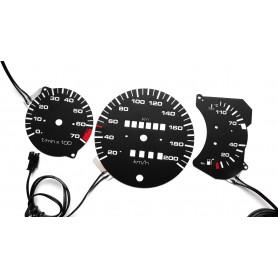 Volkswagen Polo 86c design 3 plasma tacho glow gauges tachoscheiben dials