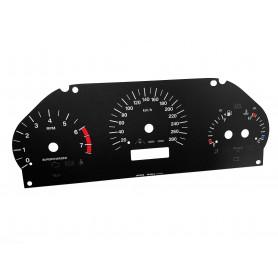 Jaguar XJ8 (X308) - zamiennik tarcz licznika z MPH na km/h