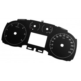 Opel Grandland X - Replacement tacho dials, face counter gauges - converted from MPH to Km/h