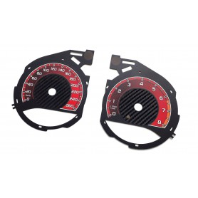 Mercedes C Class W205 - Custom Replacement tacho dials instrument cluster- converted from MPH to Km/h