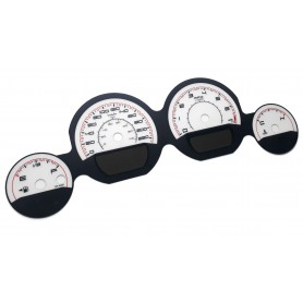Dodge Challenger 2011-2014 - replacement tacho dials, face counter gauges MPH to km/h