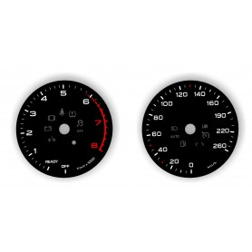 Audi A4 (B9), Audi Q5 II Replacement tacho dial - converted from MPH to Km/h