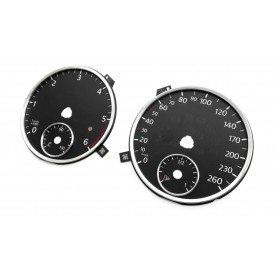 Volkswagen EOS 2010-2015 - Replacement tacho dials, counter gauges faces - converted from MPH to Km/h