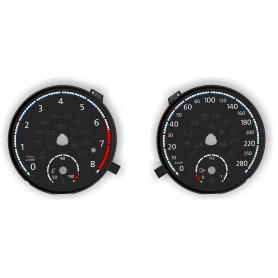 Volkswagen Passat CC - CUSTOM Scirocco design - Replacement instrument cluster dials, face counter gauges