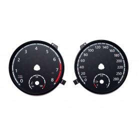 Volkswagen Passat CC - zamiennik z MPH na km/h CUSTOM wzór SCIROCCO