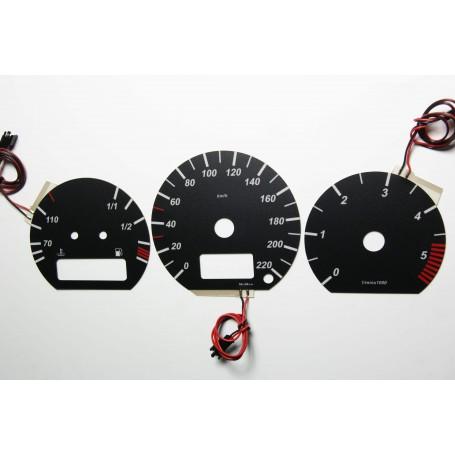 Volkswagen Corrado design 6 PLASMA TACHO GLOW GAUGES TACHOSCHEIBEN DIALS