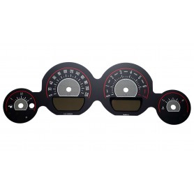 Dodge Challenger 2011-2014 - replacement tacho dials, face counter gauges MPH to km/h design 2