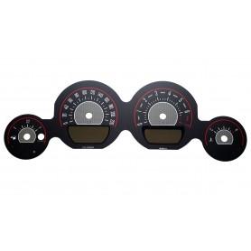 Dodge Challenger 2011-2014 - zamiennik tarcz licznika, zegary z MPH na km/h wzór 2