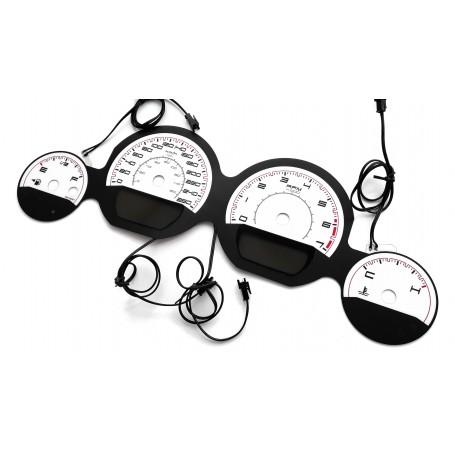 DODGE CHALLENGER 2011-2014 glow gauges INDIGLO instrument cluster dials Design 1