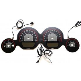 DODGE CHALLENGER 2011-2014 plasma tacho glow gauges tachoscheiben dials Design 2