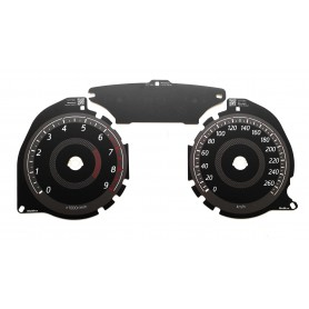 Mitsubishi Lancer Ralliart - replacement instrument cluster dials MPH to km/h