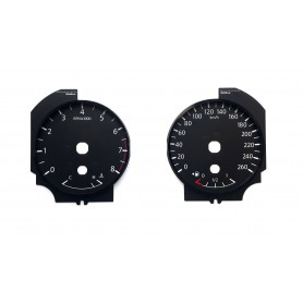Nissan Murano - Replacement instrument cluster dials from MPH to km/h