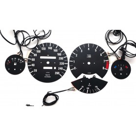BMW E30 tarcze licznika INDIGLO wersja M zamiennik z MPH na km/h