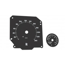 Rolls Royce Silver Seraph - replacement instrument cluster dials, face counter gauges MPH to km/h
