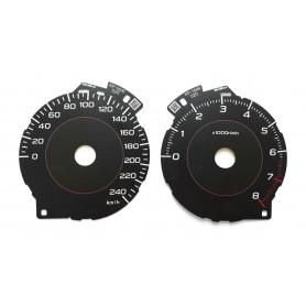 Subaru XV 2 gen. - zamiennik tarcz licznika z MPH na km/h