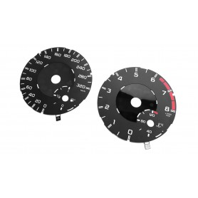 Mercedes ML for AMG - Replacement tacho dial - converted from MPH to Km/h