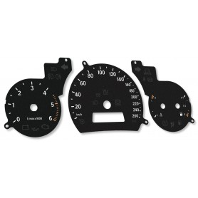 Saab 93 9-3 2gen. - replacement instrument cluster dials MPH to km/h