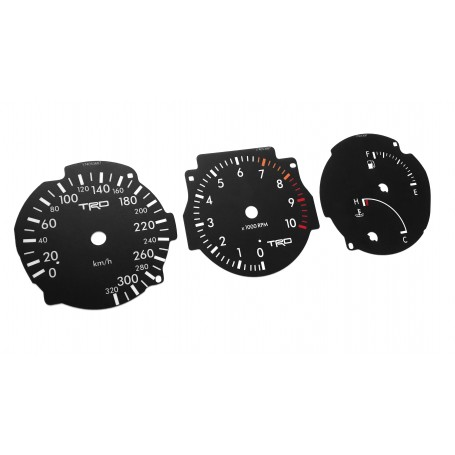 Toyota Supra MK4 - Replacement dial - replica converted from MPH to Km/h