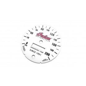 Indian Spirit - zamiennik tarcz licznika z MPH na km/h replika
