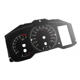 Toyota Corolla Hatchback - Replacement tacho dials - converted from MPH to Km/h