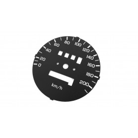 Honda Shadow VT 700 - replacement tacho dial, face counter gauge from MPH to km/h