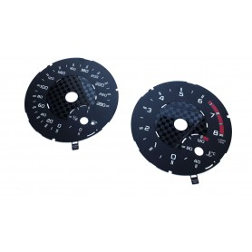 Mercedes-Benz G-Class W463 for AMG - Chessboard design - Replacement tacho dials - converted from MPH to Km/h