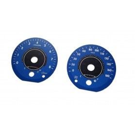 Toyota Sienna 3 XLE - replacement tacho dials, face counter gauges converted from MPH to Km/h