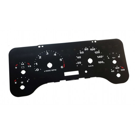 Jeep Wrangler TJ - Replacement dial - converted from MPH to Km/h