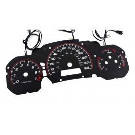 Saab 9-3 93 INDIGLO plasma tacho glow gauges tachoscheiben dials